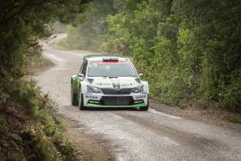 J. Kopecky & P. Dresler compete in the 2016 WRC Tour de Corse
